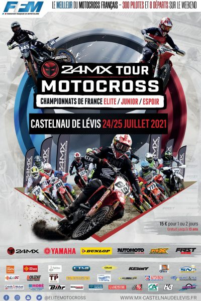Affiche Championnat 24 MX Tour - 24 & 35 juillet